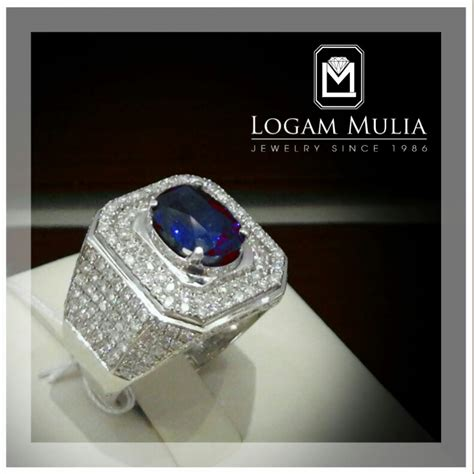 Anting Blue Saphire Cincin Gelang Kalung Anting Import Korea Xuping jual cincin berlian pria dg blue sapphire ulmc rk 1405 logammuliajewelry