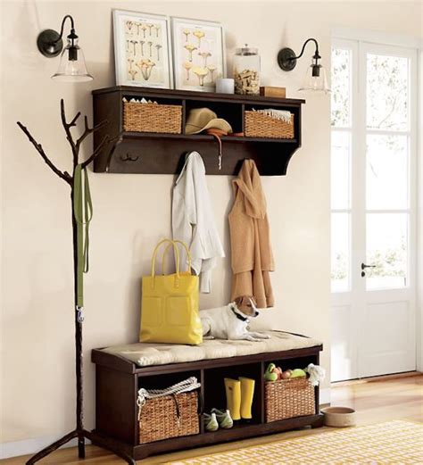 pottery barn entryway bench and shelf 8 welcoming entryway benches that maximize storage area