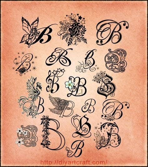 tattoo fonts for initials 25 best ideas about letter b on b
