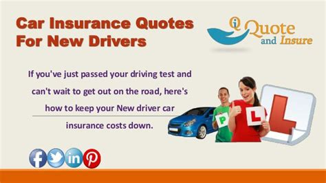 Insurance Quotes Drivers by Find Out The Cheapest Car Insurance Rates For New Drivers