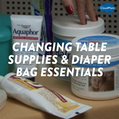 Changing Table Supplies Changing Table Supplies Bag Essentials Cloudmom