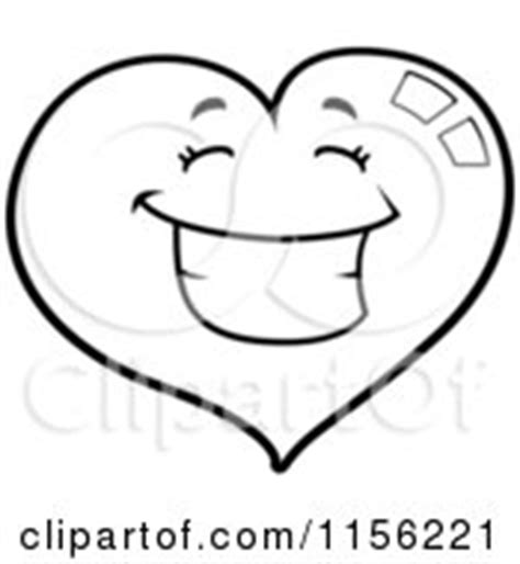 smiling heart coloring page royalty free rf smile clipart illustrations vector