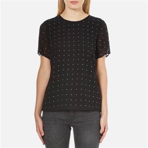Bc Kors Top Blouse Wanita Top T Shirt Dress Runik Spandek Soft Fit L michael michael kors s studded t shirt black free uk delivery 163 50