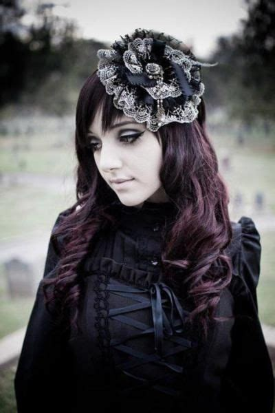 elegant goth hairstyles 38 best victorian hair and wigs images on pinterest