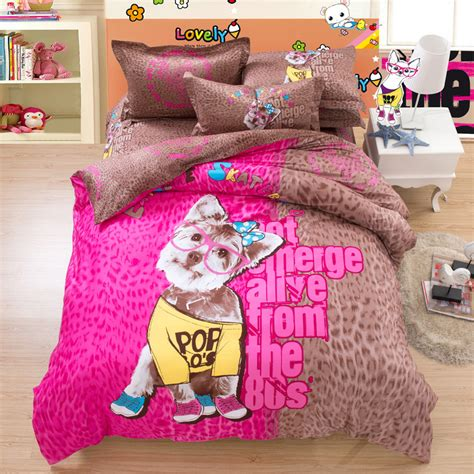 Pink And Brown Leopard Print Dog Bedding Set Twin Queen Pink Cheetah Print Bed Set