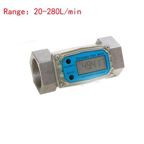 Fuel Meter Bensin 1 5inch lcd electronic turbine meter diesel fuel flow