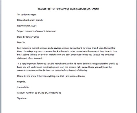 Request Letter Of Bank Statement Letter Format 187 Bank Statement Letter Format Cover Letter And Resume Sles