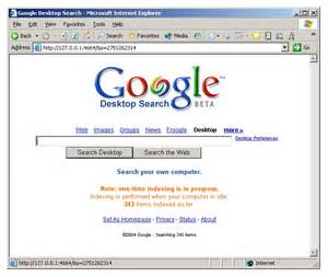 home page the desktop home page