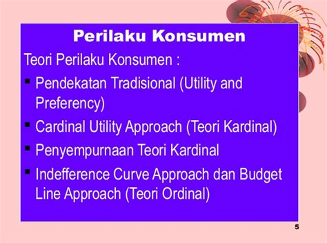 Perilaku Konsumen perilaku konsumen ekonomi indonesia