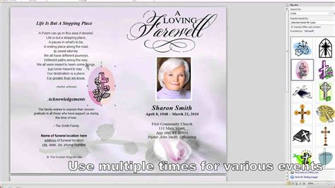 memorial program templates memorial service program template proposalsheet
