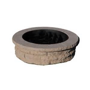 pit ring ledgestone 47 in concrete pit ring kit