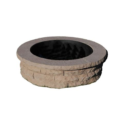 pit ring kit ledgestone 47 in concrete pit ring kit brownnantucket pavers 203583618