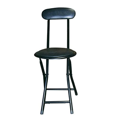 Small Folding Stool With Back by Portable Small Black Folding Chair Padded With Lock