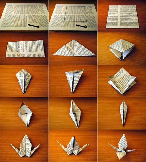 Make A Paper Crane - easy make origami crane origami and