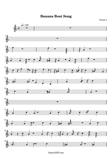 banana boat sunscreen theme song lyrics banana boat song sheet music