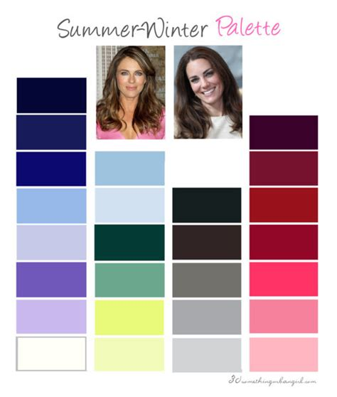cool winter color palette are you a summer winter cool summer summer winter
