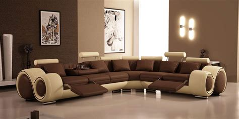 Living Rooms With Brown Sofas Modern Brown Sofa Design For Living Room Felmiatika