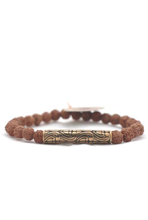 mala bali de bali mala armband is gemaakt rudraksha en brons