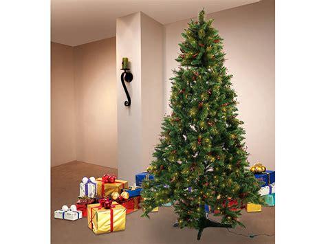 infactory rotierender weihnachtsbaum mit deko und