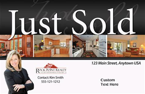 just listed card template just listed just sold postcards all real estate