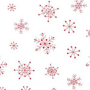 Red snowflakes white designer christmas fabric with red snowflakes