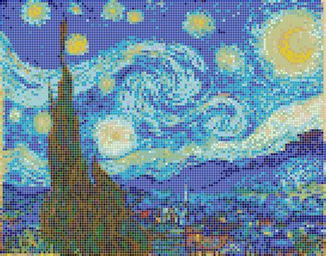 pattern mosaic art mosaic art patterns starry night van gogh mosaic