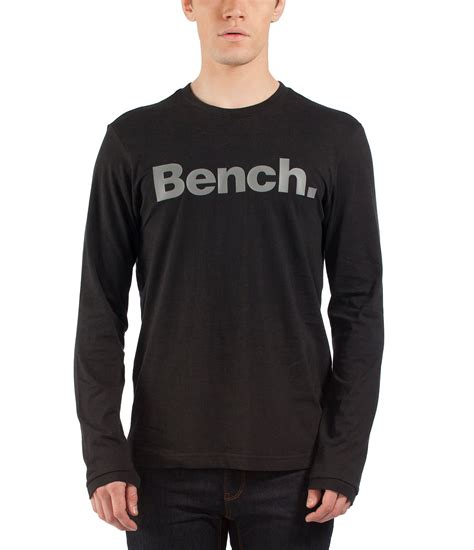 bench shirt for men bench coalition ii long sleeve crew neck corp t shirt in