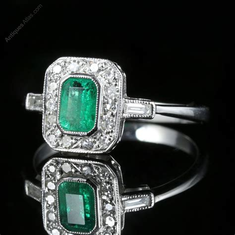 deco rings for sale uk antiques atlas emerald deco engagement ring