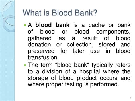 what is banker distributed blood bank management system database