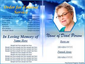 Free Funeral Program Templates by Free Funeral Program Templates Button To
