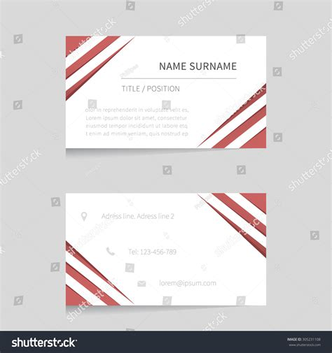 business card presentation template vector business card template modern business card
