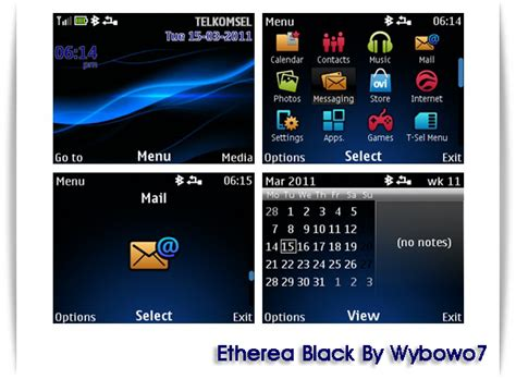 themes nokia c3 00 download mobile phones etherea black theme for nokia c3 00 by wybowo7
