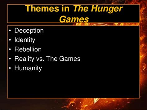 hunger games underlying themes hunger games ppt
