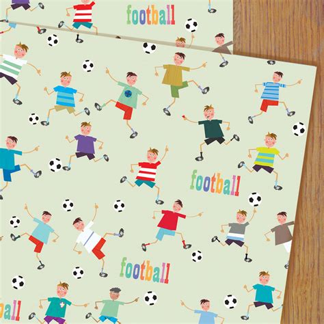 football gift wrap football gift wrap by kali stileman publishing