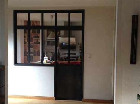 Délicieux Isolation Acoustique Porte Interieure #3: cloison-interieure-acier-brut-cire-porte-coulissante.jpg