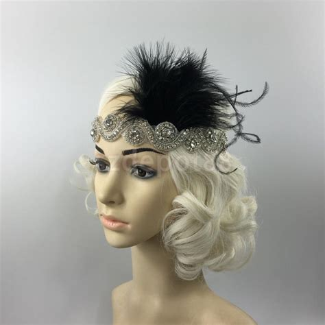 great gatsby headpieces online buy wholesale flapper feather headband from china
