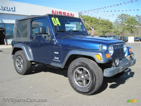 pearl jeep wrangler 2004 jeep wrangler x 4x4 in patriot blue pearl photo 4