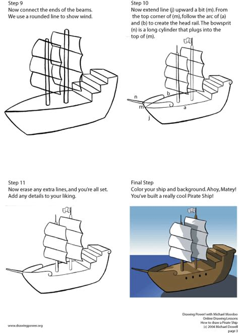 pirate ship a sketch for a how to index of lessons pirate ship