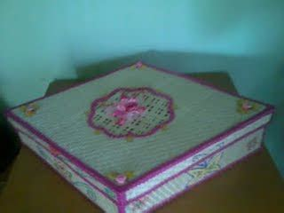 Set Kotak Tisu Dan Kue Garden 1 anyaman bambu murah bisa di pesan s