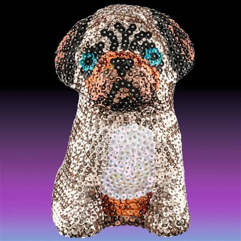 Sequin 3d Pug sequin 3d pug ksg from craftyarts co uk uk