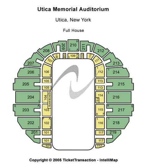 utica aud seating concert venues in utica ny concertfix