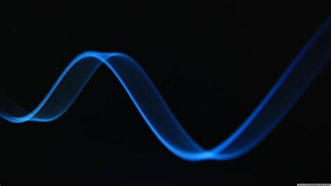 Black And Light Blue by Abstract Blue Light Wave On Black Background 4k Wallpapers