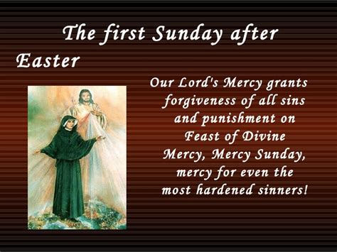 mercy sunday the sunday after easter