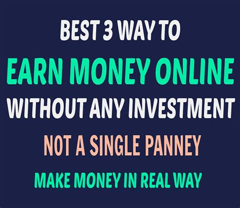 Make Money Online Without Paying - how to earn money online without paying anything and