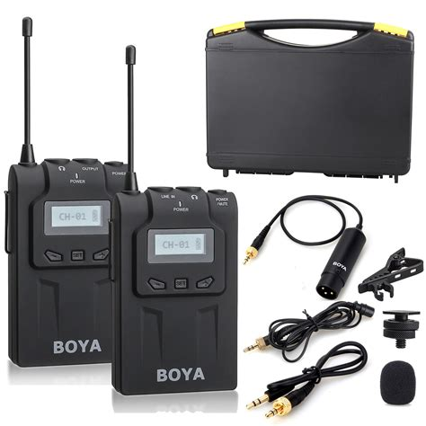 Mic Boya By Wm 5 Wireless For Handy Shooting boya by wm6 uhf professional omni directional lavalier wireless microphone recorder system for