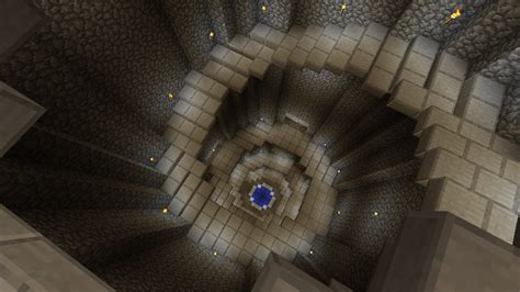 Minecraft Stairs Design Minecraft Titan S Well Descending Spiral Staircase With Pool At Bottom B Spiral