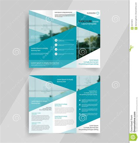layout design for business business tri fold brochure layout design emplate stock
