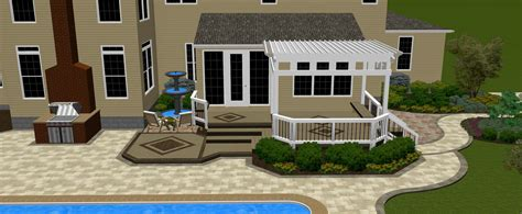 backyard patios and decks columbus oh combination outdoor living structures columbus decks porches and
