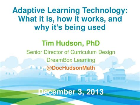 design is how it works defining adaptive learning technology what it is how it