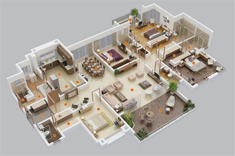 5 Bedroom Apartment by 4 Bedroom Apartment House Plans